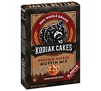 Kodiak Cakes Muffin Mix 100% Whole Grains Protein-Packed Blueberry Box - 14 Oz
