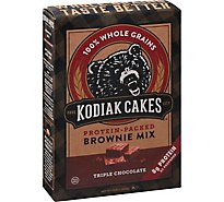 Kodiak Cakes Brownie Mix 100% Whole Grains Protein-Packed Triple Chocolate Box - 14.82 Oz