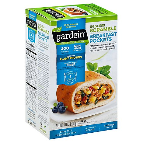 Gardein Breakfast Pockets Eggless Scramble 4 Count - 14.1 Oz