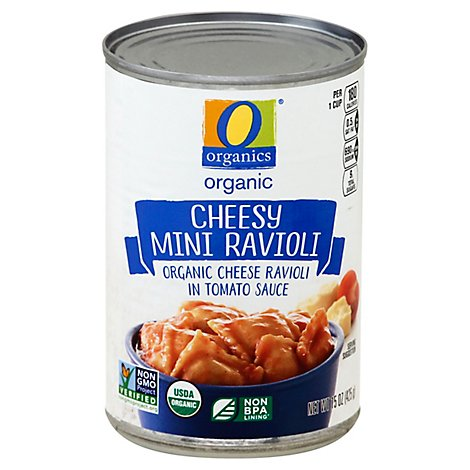 O Organics Ravioli Mini Cheesy - 15 Oz