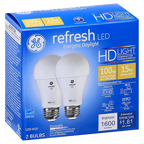 GE 100w Eq Hd Refresh - 2 Count