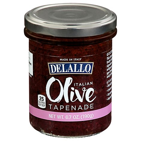 Delallo Black Olive Tapenade In Oil - 6.7 Oz