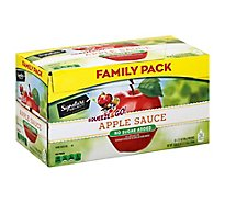 Signature Select Apple Sauce Unswtnd Pouch Fmly Pk - 24-3.17 Oz