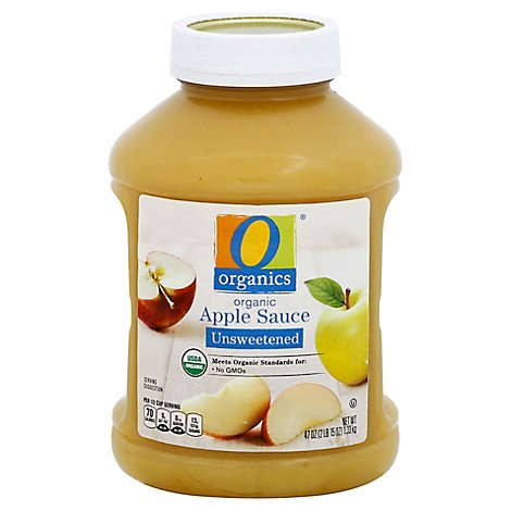 O Organics Apple Sauce Unsweetened - 47 Oz