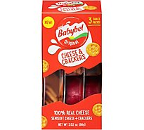 Mini Babybel Original Cheese & Crackers 3 Pack - 3.02 Oz.