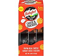 Mini Babybel White Cheddar Variety & Crackers 3 Pack - 2.89 Oz.