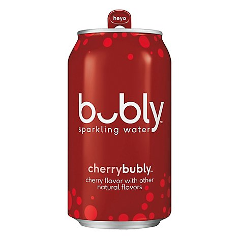bubly Sparkling Water Cherry Cans - 12-12 Fl. Oz.