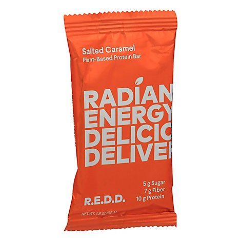 Redd Energy Bar Superfood Salted Caramel Wrapper - 2 Oz