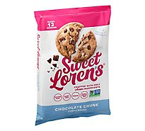 Sweet Lorens Cookie Dough Place & Bake Gluten Free Chocolate Chunk Wrapper - 12 Oz