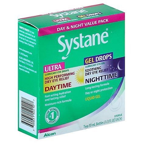 Systane Day/Night Pk 2x10ml-Us - 20 Ml