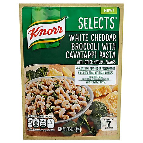Knorr Selects Pasta White Cheddar Broccoli with Cavatappi - 3.5 Oz