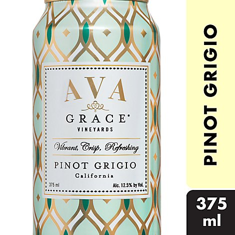 AVA Grace Vineyards Wine White Pinot Grigio In Can - 375 Ml