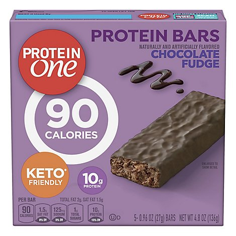 Protein One Protein Bars Chocolate Fudge Box - 5-0.96 Oz