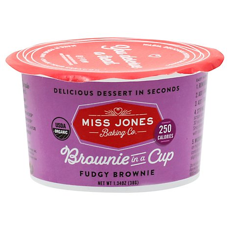Miss Jones Baking Co Brownie In A Cup Fudgy - 1.34 Oz