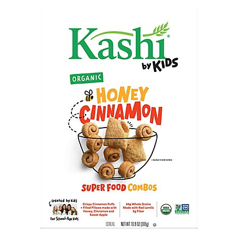 Kashi by Kids Cereal Organic Super Foods Combos Honey Cinnamon Box - 10.8 Oz