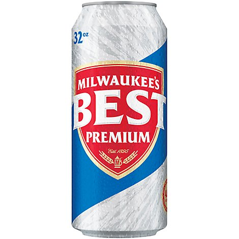 Milwaukees Best Premium Lager Beer Can 4.8% ABV - 32 Fl. Oz.