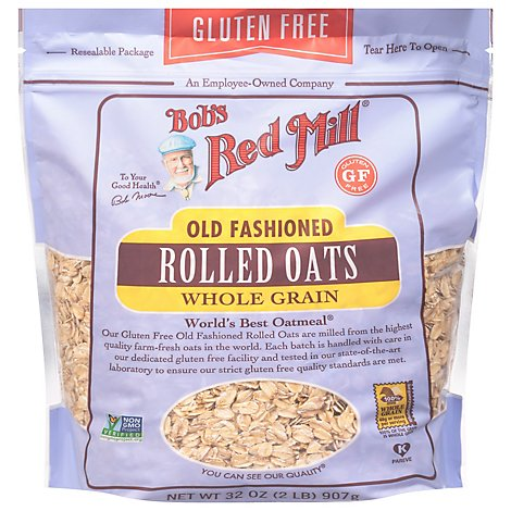 Bobs Red Mill Rolled Oats Gluten Free Old Fashion - 32 Oz