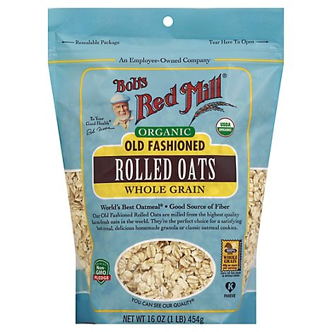 Bobs Red Mill Rolled Oats Organic Old Fashioned - 16 Oz