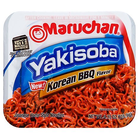 Maruchan Yakisoba Japanese Noodle Home-Style Korean BBQ Tray - 4.12 Oz