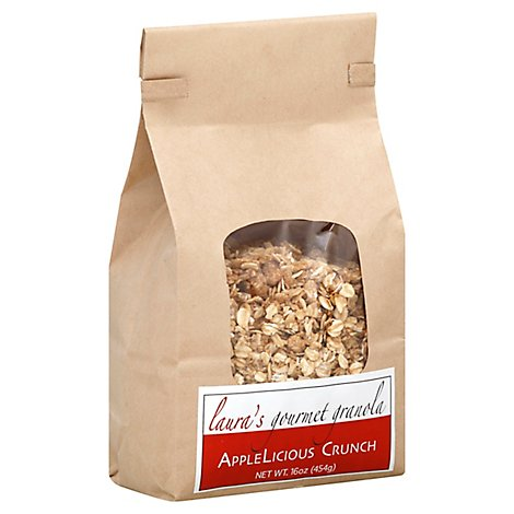 Lauras Gourmet Granola Granola AppleLicious Crunch Bag - 16 Oz