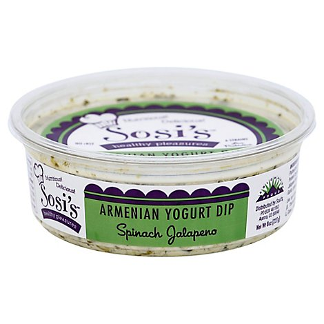 Sosis Yogurt Dip Armenian Spinach Jalapeno Tub - 8 Oz