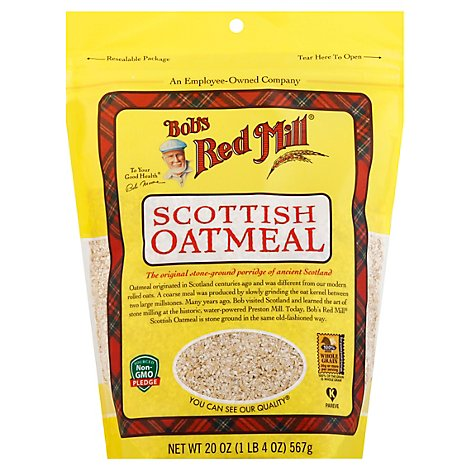 Bobs Red Mill Oatmeal Scottish - 20 Oz
