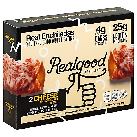 Realgood Food Enchiladas Mini Cheese Box 2 Count - 4.7 Oz
