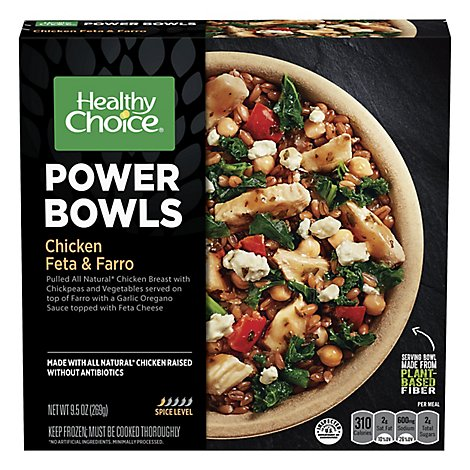 Healthy Choice Power Bowls Chicken Feta & Farro Mild Sleeve - 9.5 Oz