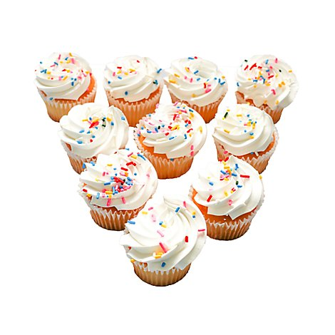Bakery Cupcake Confetti Whipped Icing 10 Count