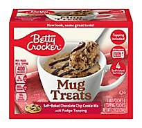 Betty Crocker Cookie Mix Mug Treats Soft-Baked Chocolate Chip Box 4 Count - 13.9 Oz