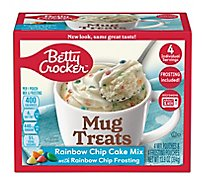 Betty Crocker Cake Mix Mug Treats Rainbow Chip Box 4 Count - 13.9 Oz