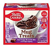 Betty Crocker Brownie Mix Mug Treats Hot Fudge Box 4 Count - 13.9 Oz