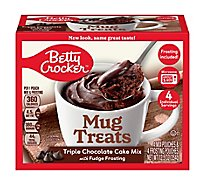 Betty Crocker Cake Mix Mug Treats Triple Chocolate Box 4 Count - 12.5 Oz