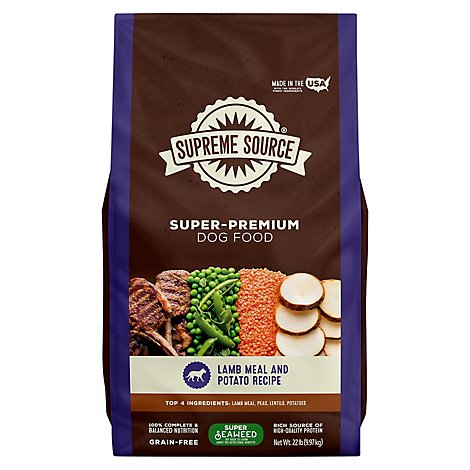 Supreme Source Dog Biscuits Grain Free Lamb Meal And Sweet Potato Bag - 22 Lb