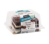 Signature Select Cake Chocolate Decadent Gluten Free - 16 Oz