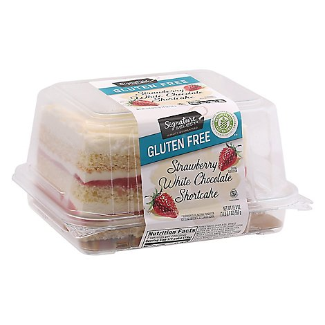 Signature SELECT Shortcake Strawberry White Chocolate Glutenfree - 19.4 Oz