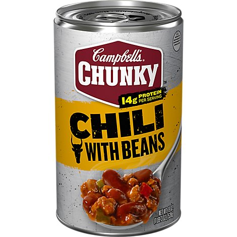 Campbells Chunky Chili With Bean Roadhouse Can - 19 Oz