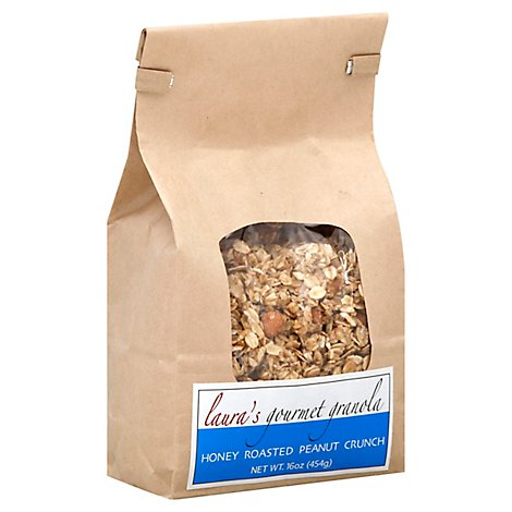 Lauras Gourmet Granola Granola Honey Roasted Peanut Crunch Pouch - 16 Oz
