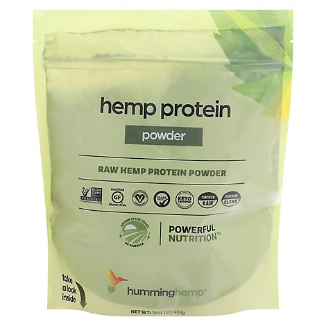 Humming Hemp Hemp Protein Powder Raw - 16 Oz