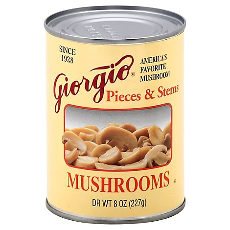 Giorgio Mushrooms Pieces & Stems Can - 8 Oz