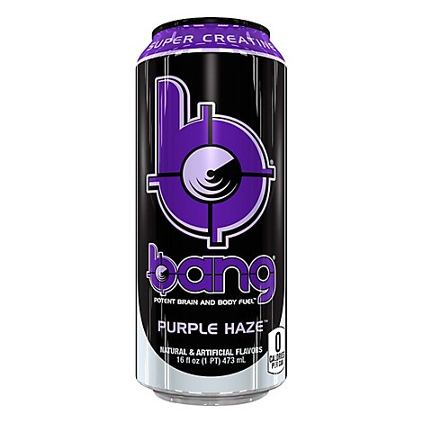 Bang Energy Drink Purple Haze Grape Can - 16 Fl. Oz.
