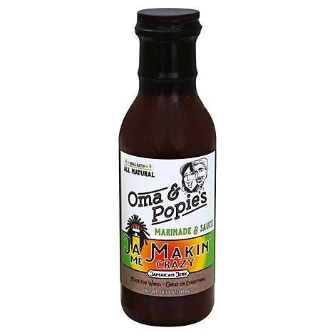 Oma & Popies Ja Makin Me Crazy Marinade - 14.75 Oz