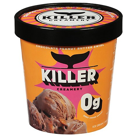 Killer Creamery Keto Frozen Dessert Keto Chocolate Peanut Butter 1 Pint - 473 Ml