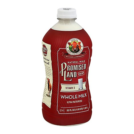 Promised Land Whole Milk Milk Bottle - 52 Fl. Oz.