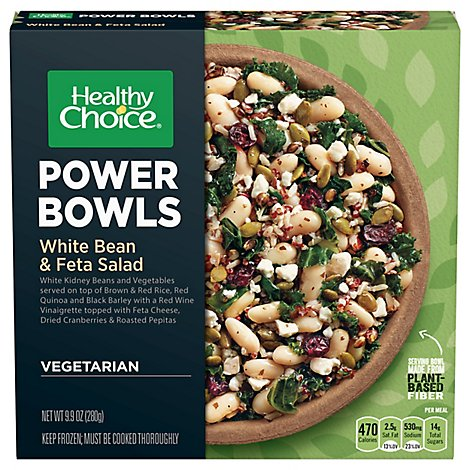Healthy Choice Power Bowls White Bean And Feta Salad Mild Sleeve - 9.9 Oz