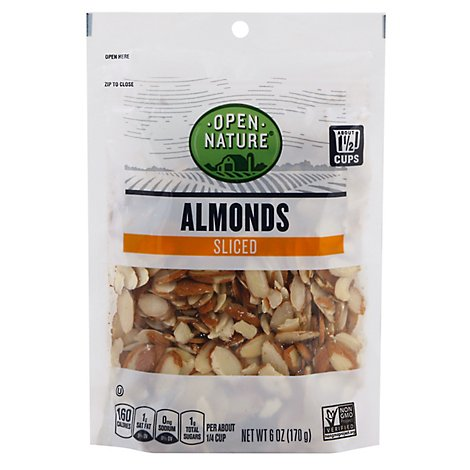 Open Nature Almonds Sliced - 6 Oz