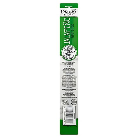Lorissas Kitchen Snack Beef Stick Jalapeno Vacuum Packed - 1 Oz