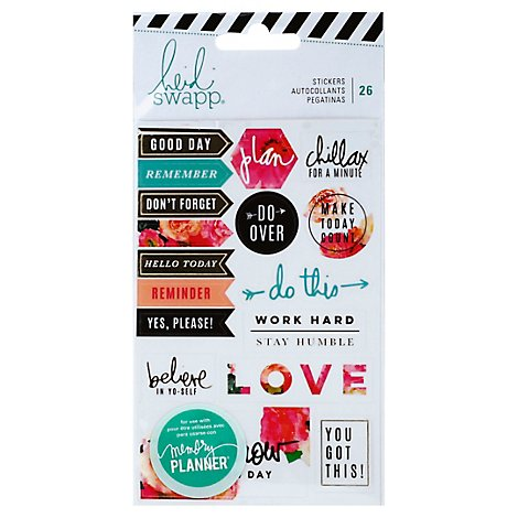 Heidi Swapp Stickers Floral Wrapper - 26 Count