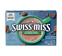 Swiss Miss Hot Cocoa Milk Chocolate No Sugar Added Envelopes - 5.84 Oz
