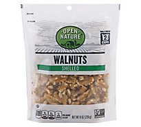 Open Nature Walnuts Shelled - 8 Oz